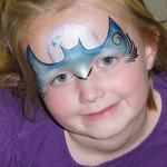Kinderschminken für Mädchen zu Halloween von den Facepainters