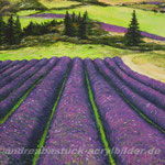"""""""Lavendelfeld"""", 60 cm x 50 cm, Acryl"""