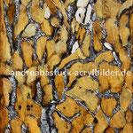 """""""Rindeninterpretation eines Köcherbaums"""", 50 cm x 70 cm, Spachtelmasse, Acryl, Marmormel"""