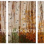"""Birkenwald"", 3 x 80 cm x 120 cm"