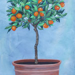 """""""Orangenbäumchen"""", 60 cm x 120 cm"""