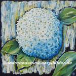 """""""Blütentraum in Weiss"""", 80 x 80 cm, Acryl und Marmormehl"""