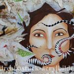 """""""Urban-Art"""", 120 cm x 80 cm, Acryl, Papier und Spachtelmasse"""