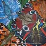 """Schmetterlinge"", 100 cm x 100 cm"