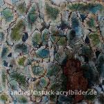 """""""Rindeninterpretation einer Myrrhe"""", 50 cm x 50 cm, Holzkörper, Spachtelmasse, Marmormehl"""