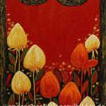 """Hausnummer Rot"", 30 cm x 80 cm, Acryl (in Privatbesitz)"