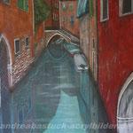 """""""Venedig"""" , 100 cm x 80 cm, Acryl, Lehm in Holzrahmen"""