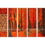 """""""Farbenrausch im Buchenwald"""", 5 x 40 cm x 125 cm, Holz, Spachtelmasse, Acryl auf Holzkörper"""