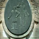 Relief am Denkmal - Verteidigung von Kolberg -