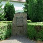 Gedenkstein am Fundort Gneisenaus