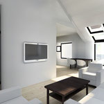 Интерьер одной из квартир с двусветной гостиной