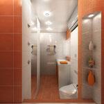 Ванная комната - вид от ванной