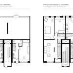 Планы 1 и 2 этажей секции на 4 квартиры