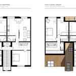 Планы 3 и 4 этажей секции на 4 квартиры