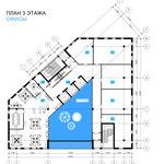 План офисного этажа с Южным атриумом