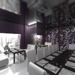 Банкетный зал: две мягких зоны и стол на 14 персон