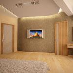 Спальная (вид дверь гардеробной)