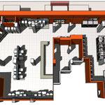 Схема планировки залов магазина