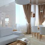 Кухня-гостиная_вид на диван и обеденный стол