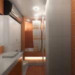 Ванная комната - вид от входа на ванную