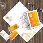 Элементы фирменного стиля: бланк, визитки, листовка