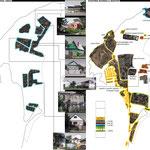 Схема существующих жилых участков и территорий коммерческих объектов