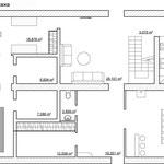 Перепланировка первого этажа (входная зона, гостиная, столовая, кухня, сауна)