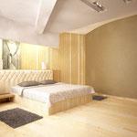Спальная (вид на кровать)