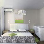 Спальная - вид от шкафа на кровать