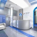 Эскиз интерьера вестибюля клиники
