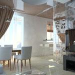 Кухня-гостиная_вид с дивана