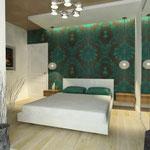 Спальная_вид на кровать из эркера