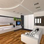 Жилая зона с раскладным диваном