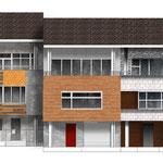 Процесс проектирования - каждый архитектор Т.М. предложил свой вариант для одного дома из группы