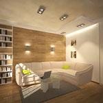 Гостиная - вид на диван