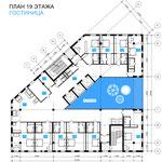 План гостиницы с Восточным атриумом