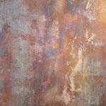 Rost I, 2011, Acryl,Papier/MP, 50 x 70 cm
