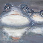 Moorfrösche, 2012, Acryl/LW, 30 x 900 cm
