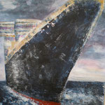 Queen Mary, 2009, Acryl/Papier, 36 x 47,5 cm