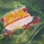 Frosch. 2008, 3-teilig, Acryl/LW, 30 x 40, 40 x 60, 30 x 40 cm