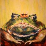 Froschkönig, 2005, Acryl/LW, 50 x 60 cm