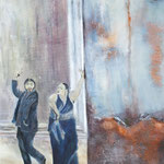 Flamenco, 2011, Acryl/LW, 70 x 100 cm