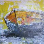 Nussschale, 2011, Acryl/LW, 40 x 60 cm