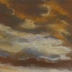 Wolkenspiel #2, 2018, Pastellkreiden/Schleifpapier, 23,5 x 27,5 cm