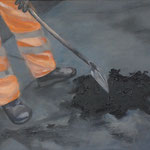 Schlagloch, 2016, Acryl/LW, 40 x 50 cm