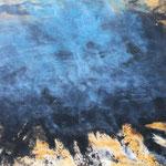 7 Uhr, 2017, Acryl/LW, 70 x 100 cm