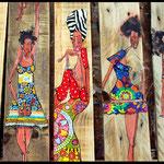 Les Kafrines sur bois palette