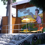 Fassadengestaltung Biosk Freiburg