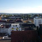 Blick nach Dennhausen, rechts ist das VW-Werk zu erkennen