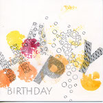 HAPPY BIRTHDAY - Aquarell, Faserstift